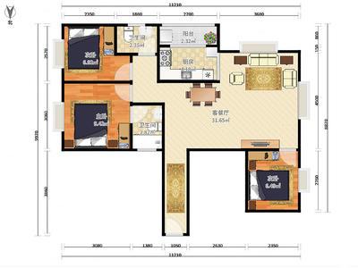 雍翠豪园小区中心位置小高层视野开阔3房诚意出售