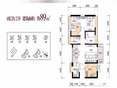 鸿荣源壹成花园,精装大4房,学校在家门口,自带山姆店,近地铁